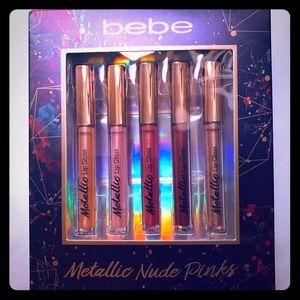 NWT Bebe Metallic Nude Pinks